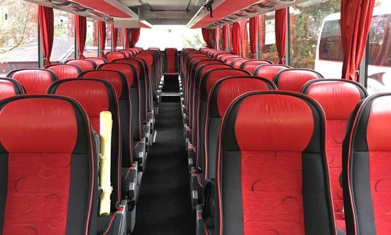 Reisebus bequeme Sitze
